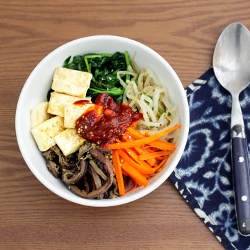 Vegan Korean Food: Vegan Bibimbap