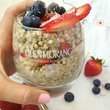 Raw Buckwheat Parfait with Maca Chia Pudding