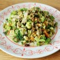 Vegan Broccoli Slaw with Shallots and Raisins