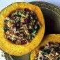 Healthy Dinner: Wild Rice Stuffed Acorn Squash